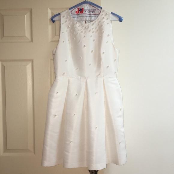 ac869fee Ted Baker London Dresses | Ivory Ted Baker Pearl Embellished Skater ...